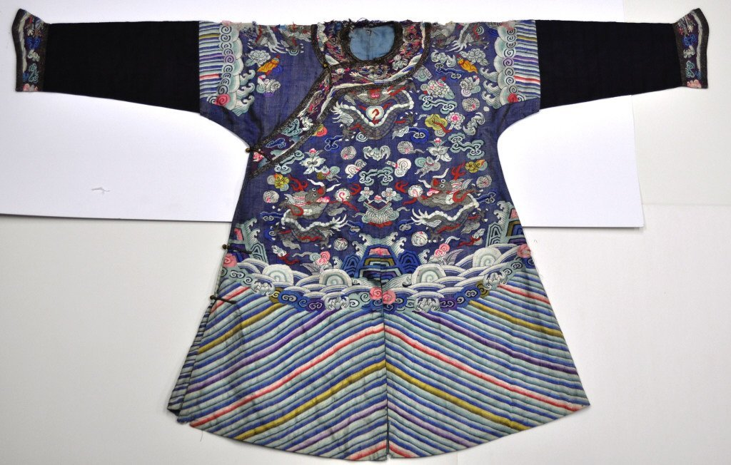Chinese Early Qing Dragon Kesi Imperial Court Robe