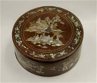 Mother-of-Pearl Inlaid Wooden Box