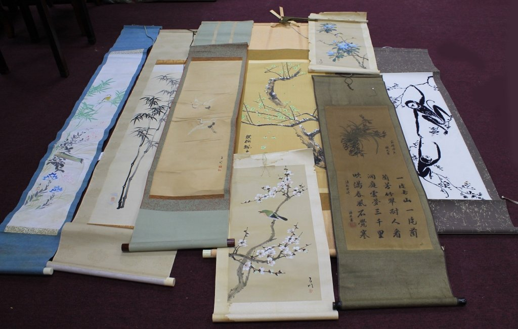 Lot of Scroll Paintings