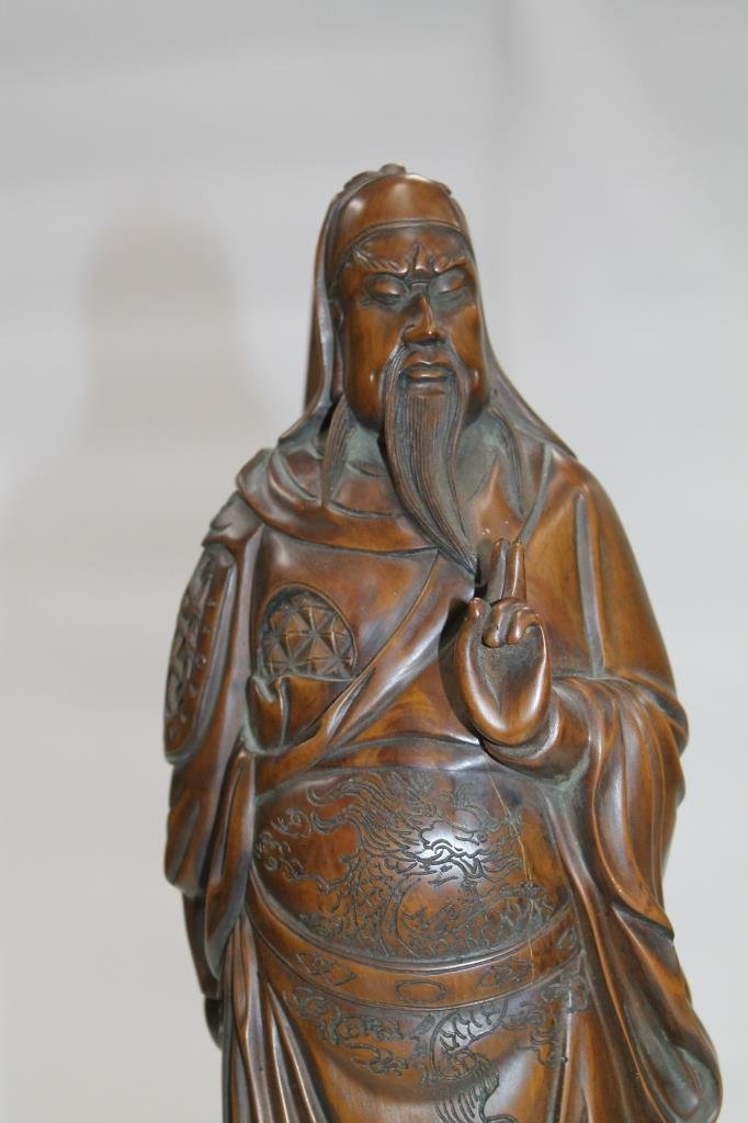 Chinese Carved Wood Figure - 2