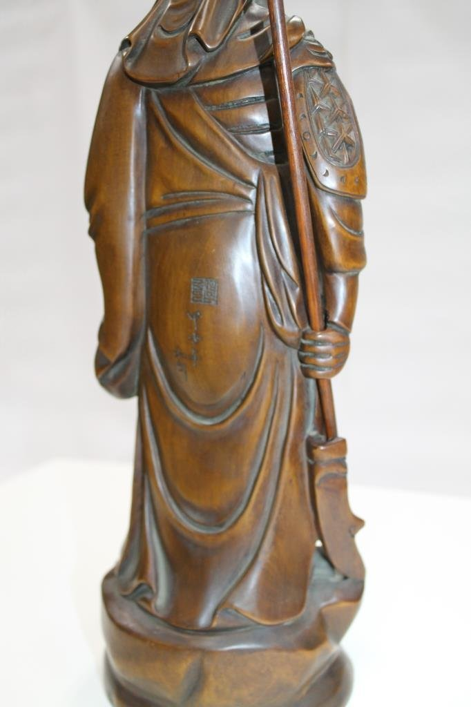 Chinese Carved Wood Figure - 4