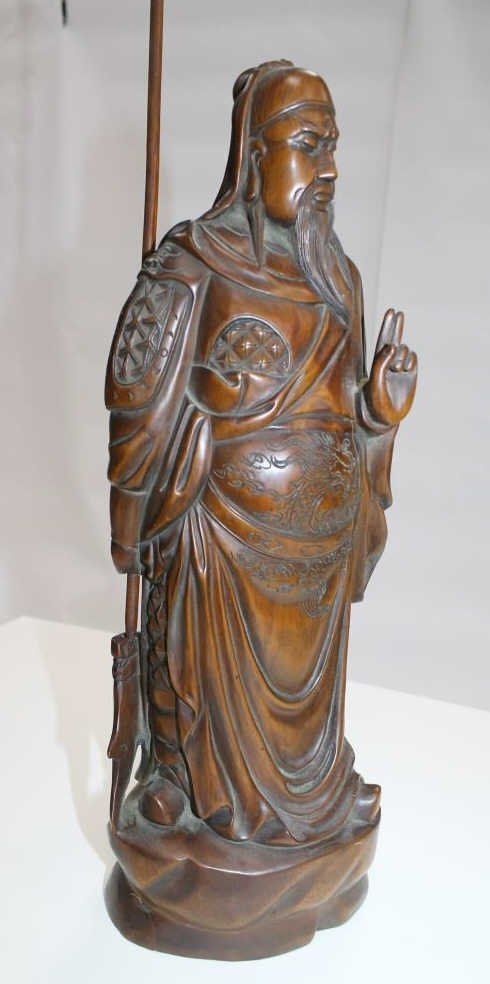 Chinese Carved Wood Figure - 6