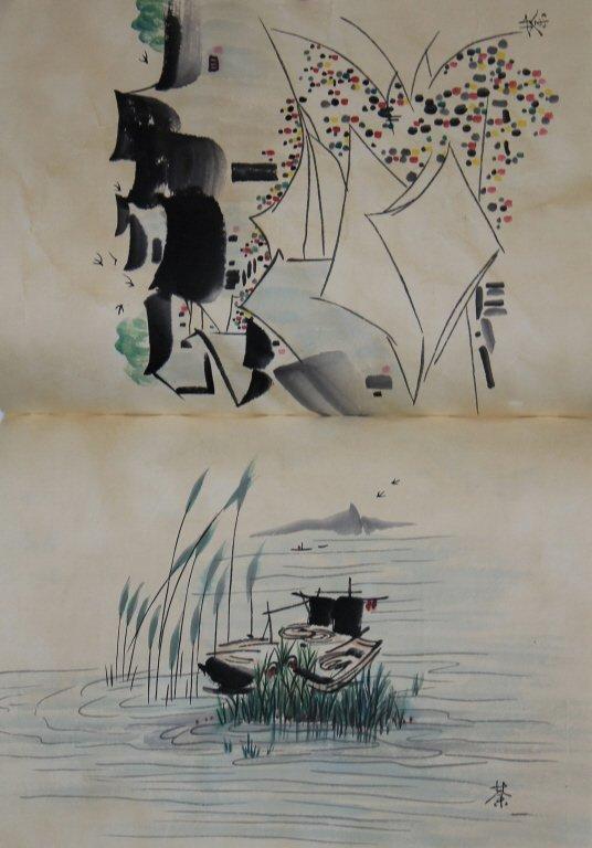 Chinese Book of Watercolor Paintings-Wu Guan zhong - 2