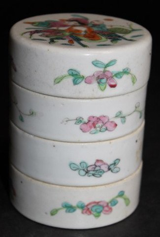 Chinese Famille Rose Sweet Meats Container