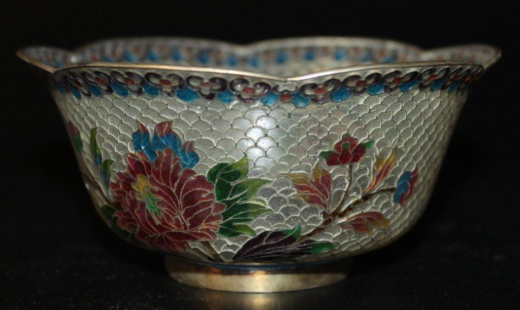 Plique-a-Jour Lidded Bowl - 4