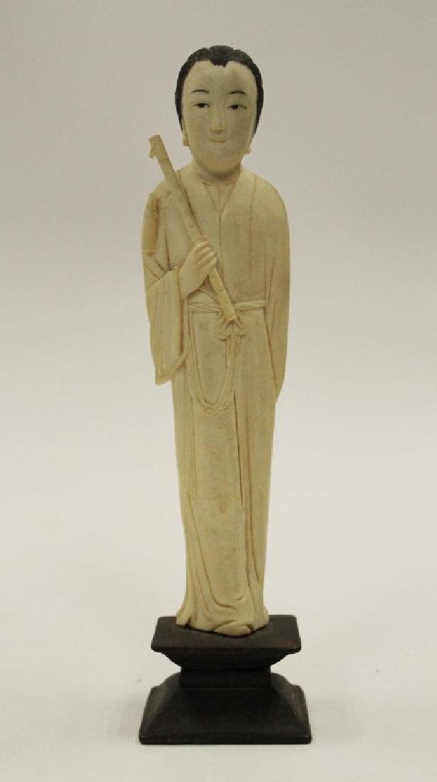 Highly Carved Bone Figure - Woman