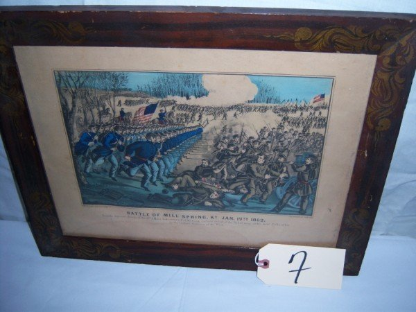 7: Battle of Mill Spring, KY Jan 19, 1862 Currier & Ive