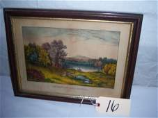 16: Autumn on Lake George Currier & Ives