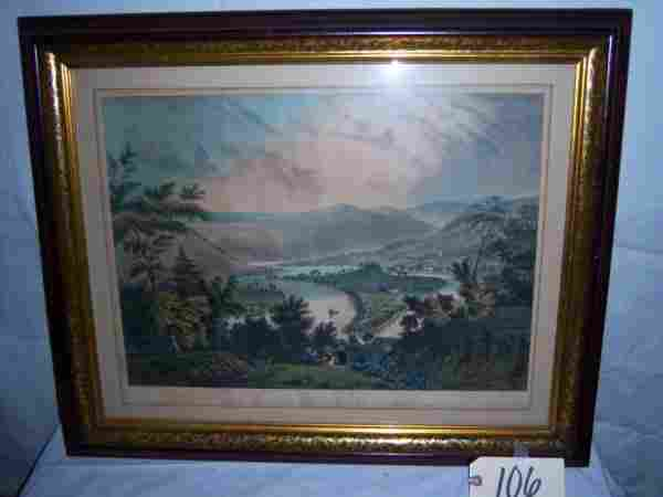 The Valley of the Susquehanna Currier & Ives, fram