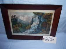 """206: Valley Falls - Virginia Currier & Ives, 17"""" x 13"""""""