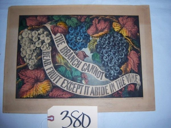 """unfr., Motto, """"The Branch Cannot Bear Fruit, Excep"""
