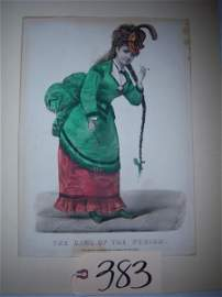 """383: unfr., """"The Girl of the Period"""" Currier & Ives, pr"""