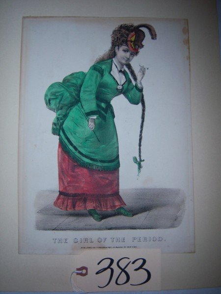 "383: unfr., ""The Girl of the Period"" Currier & Ives, pr"
