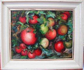 """4: Kitty Brandfield (1910-1999).  """"Garden Tomatoes,"""" oi"""