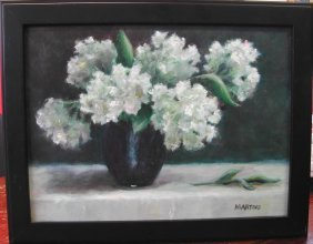 """11: Annie Martino Dilworth (20th-21st c.).  """"Peonies,"""""""