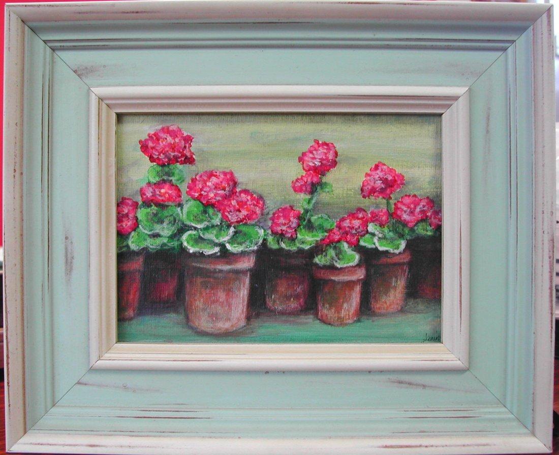 "16: Janine Harrigan (20th-21st c.).  ""My Geraniums,"" ac"