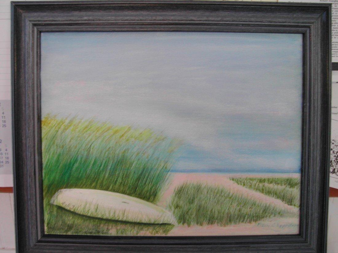 "19: Mary Epperlein (20th-21st c.).  ""Jamesport Rowboat,"