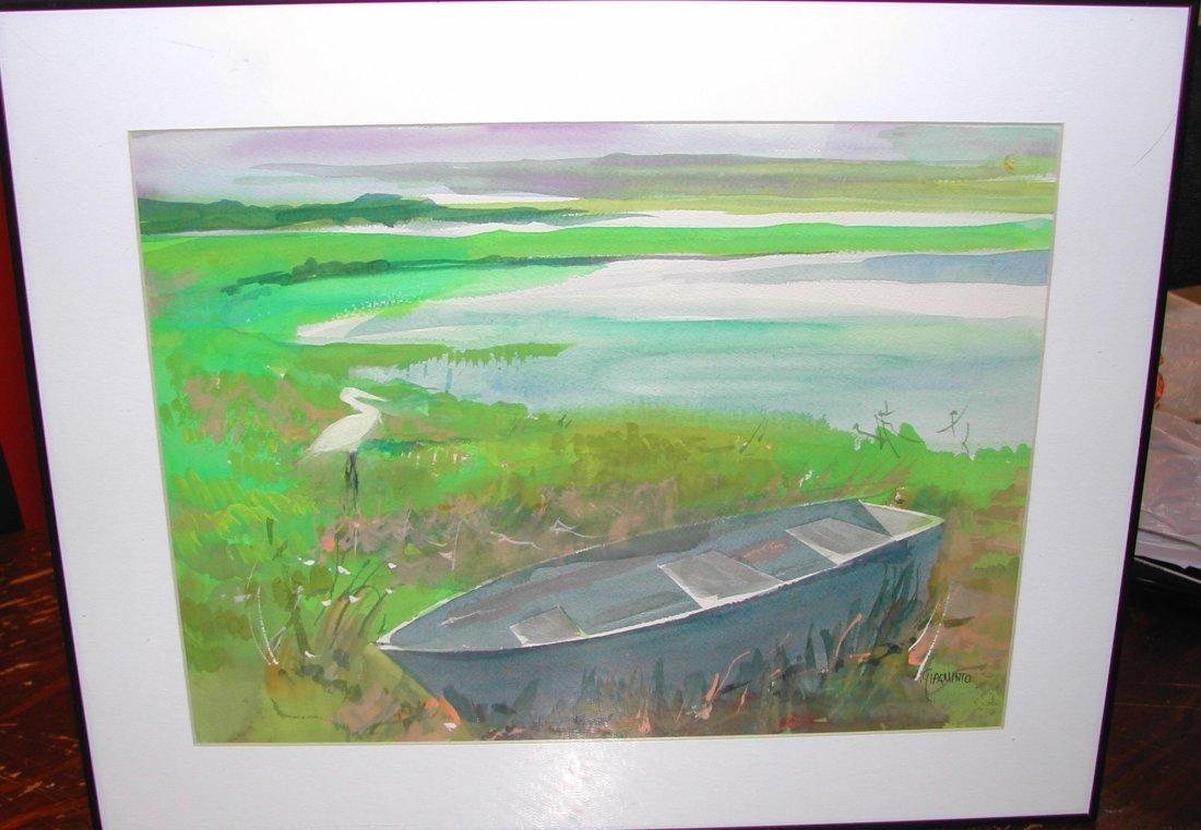 "20: Helen B. Giaquinto (20th-21st c.).  ""Marsh Dwellers"