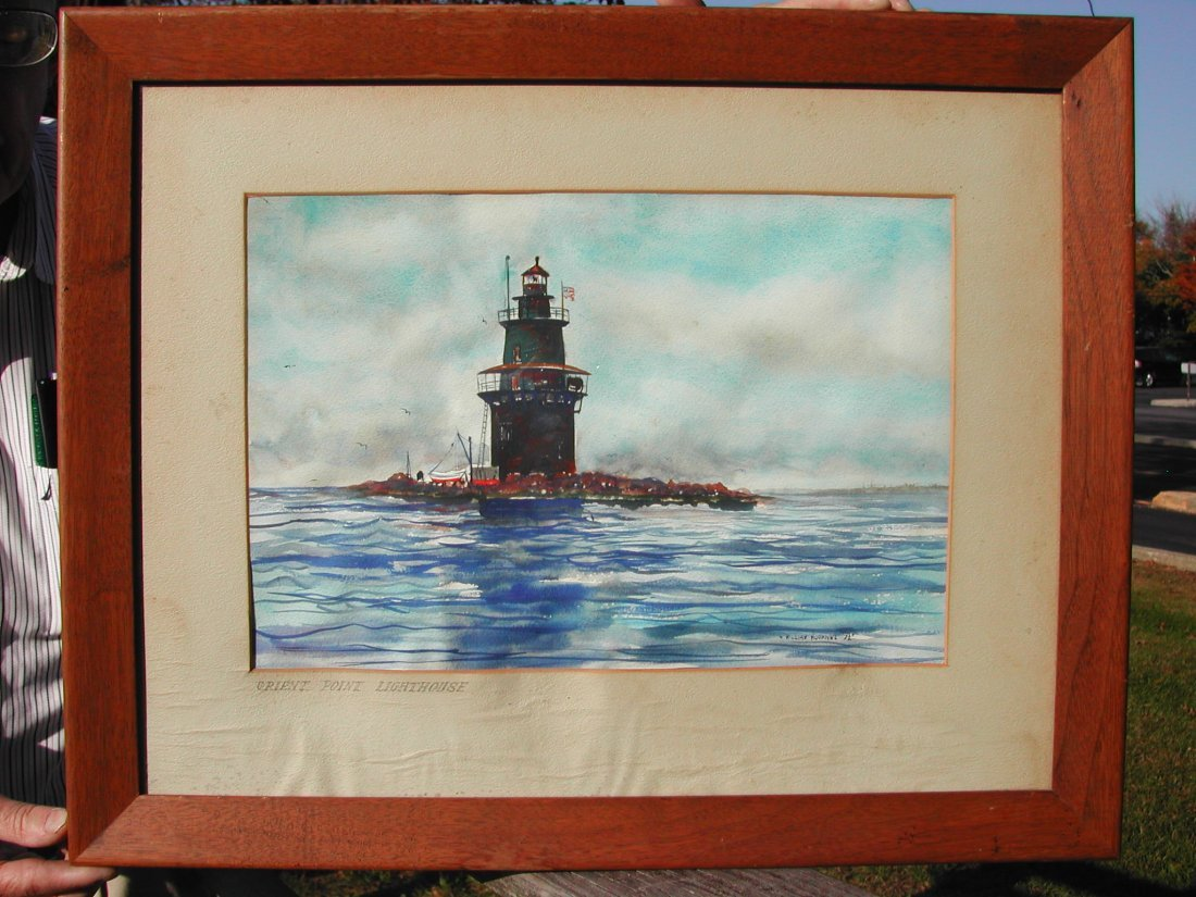 "22: William Hoernal (b. 1916).  ""Orient Point Lighthous"