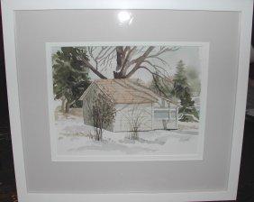 "23: Lynn Harpell (20th-21st c.).  ""Boat House, Howards"