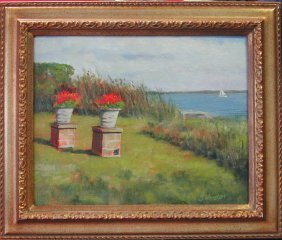 """24: Larry Johnston (20th-21st c.).  """"By the Bay, Bellpo"""