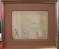 "53: David Burliuk (1882-1967).  ""Double Sketch,"" 1929-3"