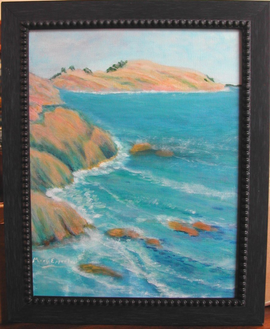 "Mary Epperlein (20th-21st c.).  ""The Coast,"" acrylic on"