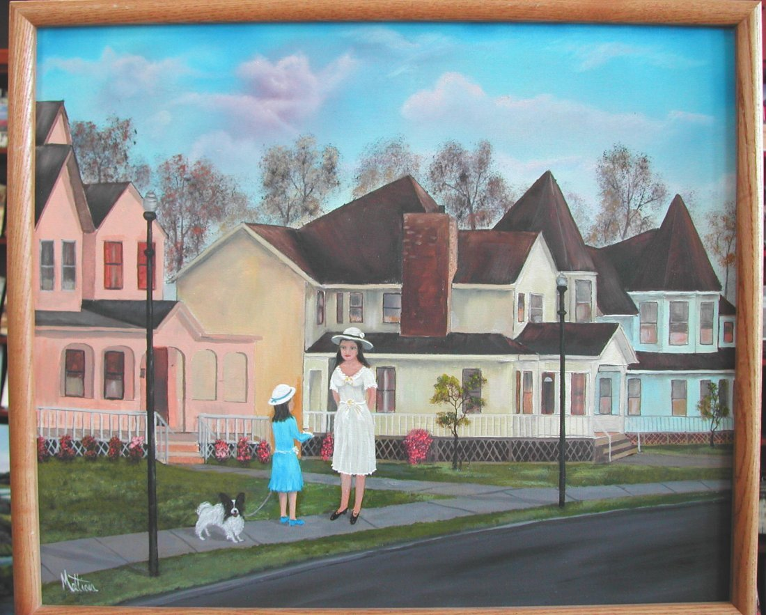 "Charles Mattina (20th-21st c.)  ""Sunday Morning,"" acryl"