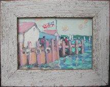 "John Crimmins (20th-21st c.), ""Greenport Harbor,"""