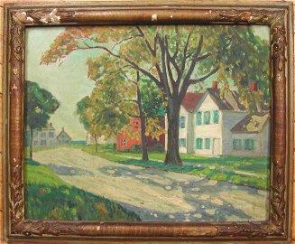 "Whitney M. Hubbard (1875-1965),  ""Village Street,"