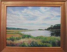 "Adelaide Amend (20th-21st c.), ""East Creek Marsh,"