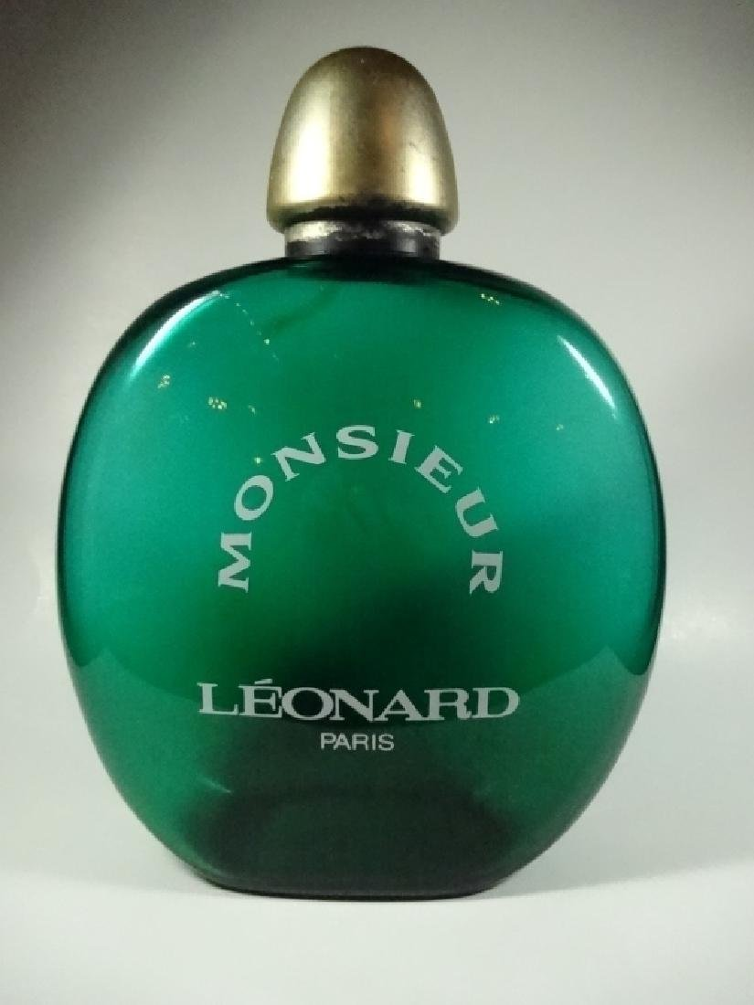 MONSIEUR LEONARD PARIS PERFUME FACTICE, GREEN, GLASS,