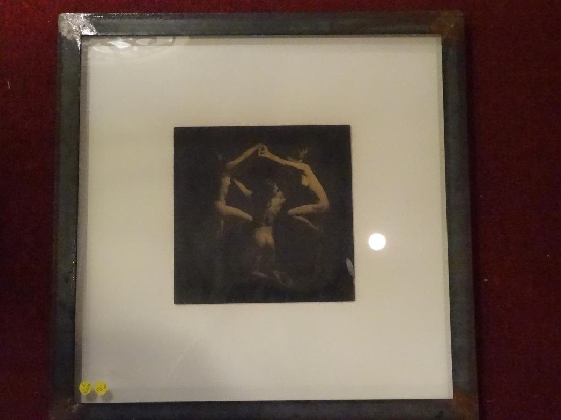 SIGNED PHOTOGRAPHIC PRINT, 3 NUDES, SIGNED LOWER RIGHT