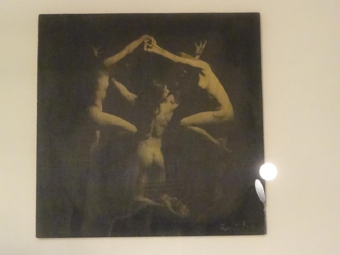 SIGNED PHOTOGRAPHIC PRINT, 3 NUDES, SIGNED LOWER RIGHT - 3