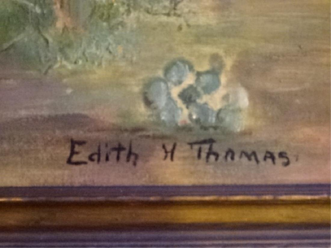 EDITH H THOMAS SIGNED PAINTING ON CANVAS, DESERT - 6