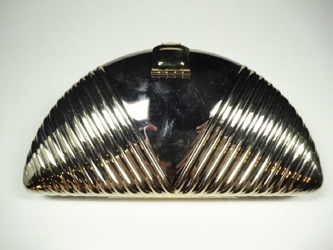 ART DECO STYLE METAL EVENING BAG / PURSE, GOLD & SILVER - 5