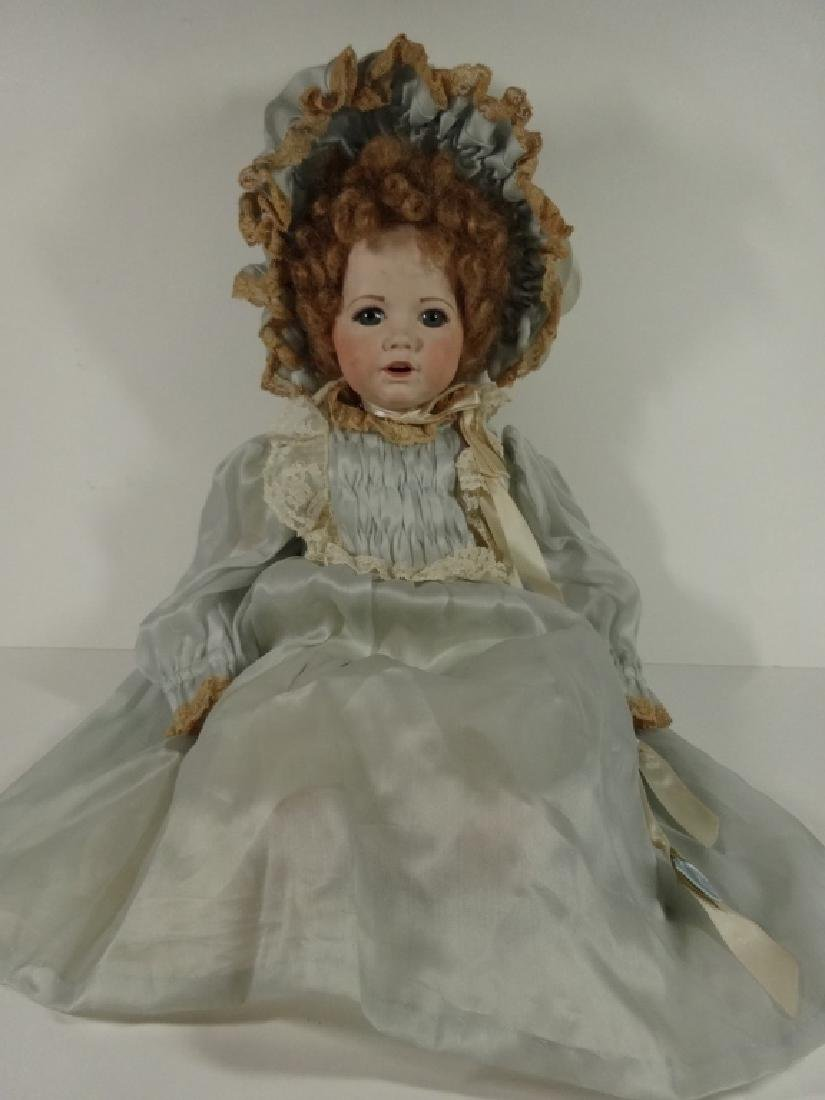 LARGE PORCELAIN DOLL WITH DRESS BY DALE TILSTRA,