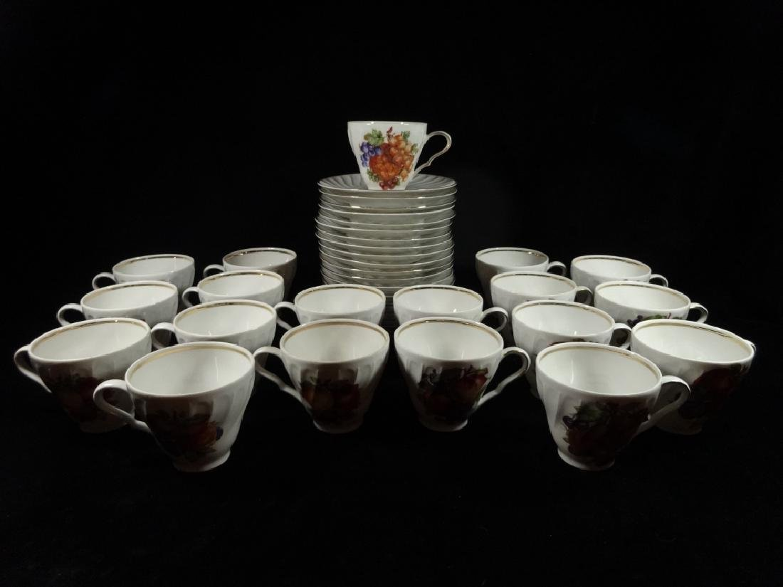 38 PC VINTAGE OLD NUREMBERG BAVARIAN PORCELAIN CUPS &