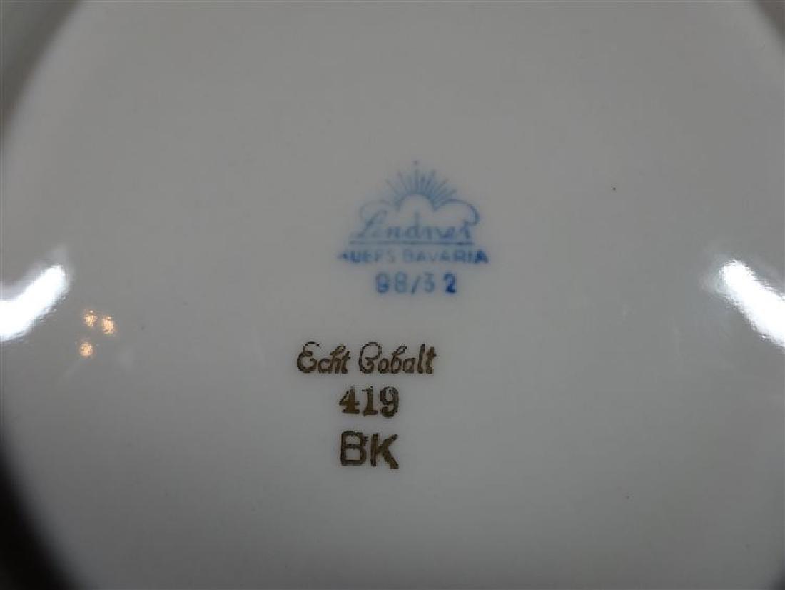 LINDNER BAVARIA ECHT COBALT PORCELAIN BOWL, GOLD GILT - 4