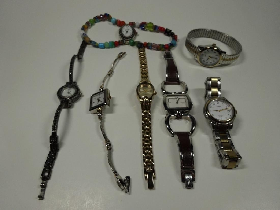 7 PC WOMEN'S WATCHES, INCLUDES NARMI, TIMEX, FOSSIL,