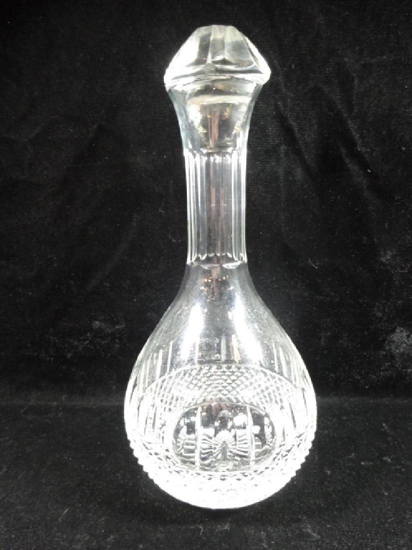 "CRYSTAL DECANTER WITH STOPPER, APPROX 11""H, SKU253.09"