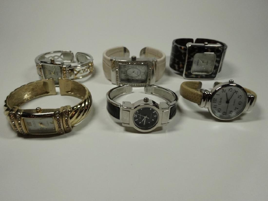 6 PC WOMEN'S WATCHES, CUFF STYLE, INCLUDES EIKON,