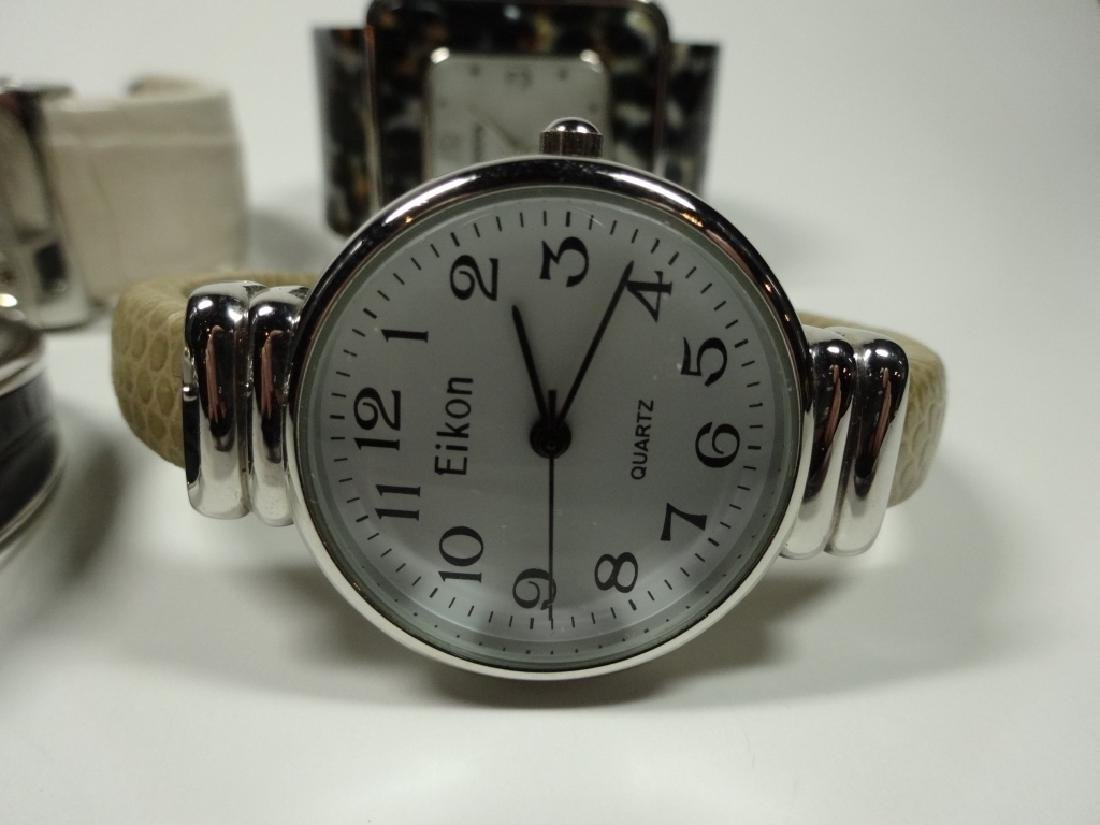 6 PC WOMEN'S WATCHES, CUFF STYLE, INCLUDES EIKON, - 2