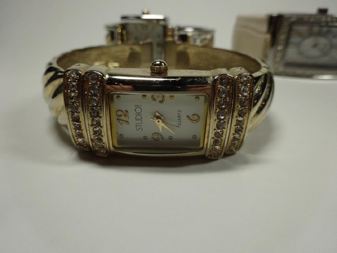 6 PC WOMEN'S WATCHES, CUFF STYLE, INCLUDES EIKON, - 4