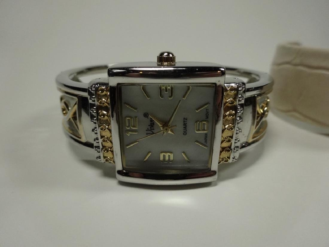 6 PC WOMEN'S WATCHES, CUFF STYLE, INCLUDES EIKON, - 5