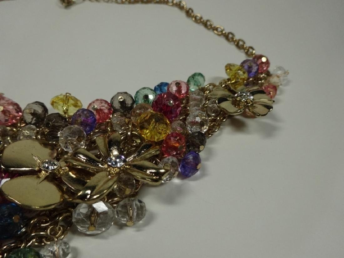"BEAD & METAL DANGLE NECKLACE, APPROX 16.5""L WITH 3"" - 4"