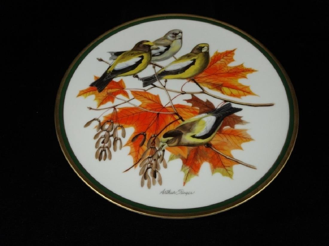 NATIONAL AUDUBON SOCIETY PORCELAIN PLATE, EVENING