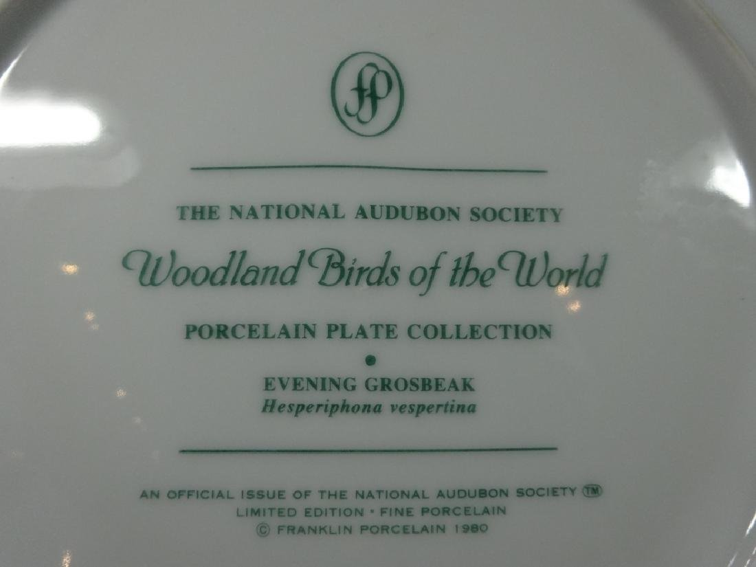 NATIONAL AUDUBON SOCIETY PORCELAIN PLATE, EVENING - 4