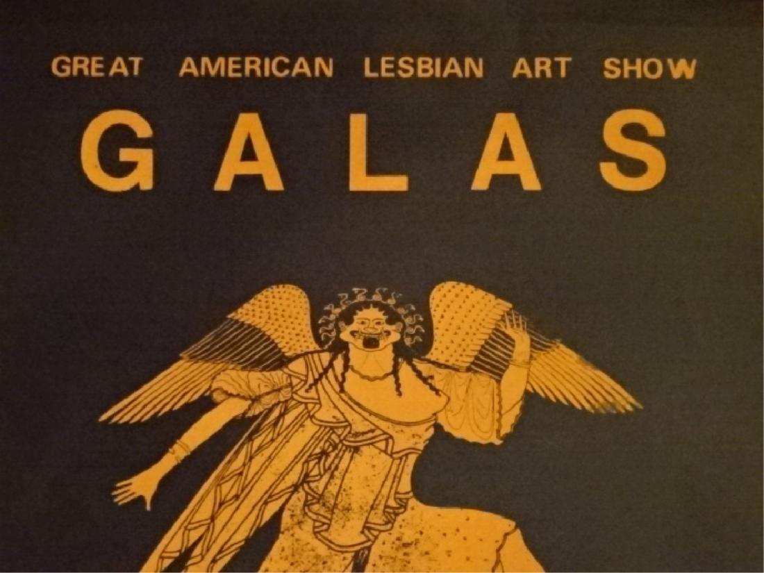 GREAT AMERICAN LESBIAN ART SHOW POSTER, UNFRAMED, CIRCA - 5