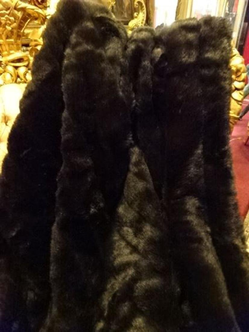 "LARGE FAUX MINK THROW, VERY GOOD CONDITION, 68"" X 60"" - 2"